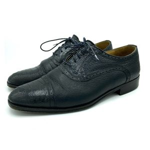 Other - Zelli Oxford Dress shoe Made n Italy Black Ostrich